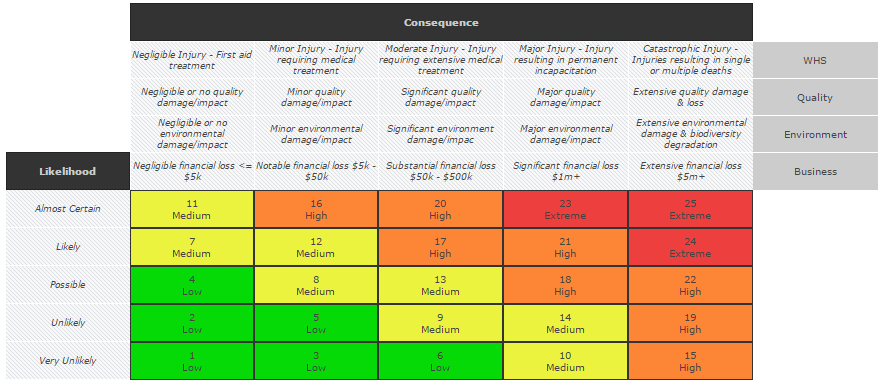 Skytrust Risk Matrix